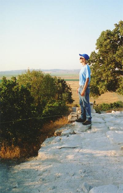 Eric Shanower gazes over the Trojan Plain