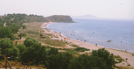 Beach south of Yenikoy